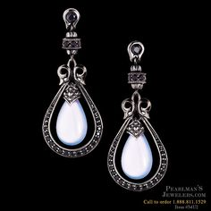 ✯ Scott Kay Fashion Blue Chalcedony drop earrings from Pearlman's Jewelers