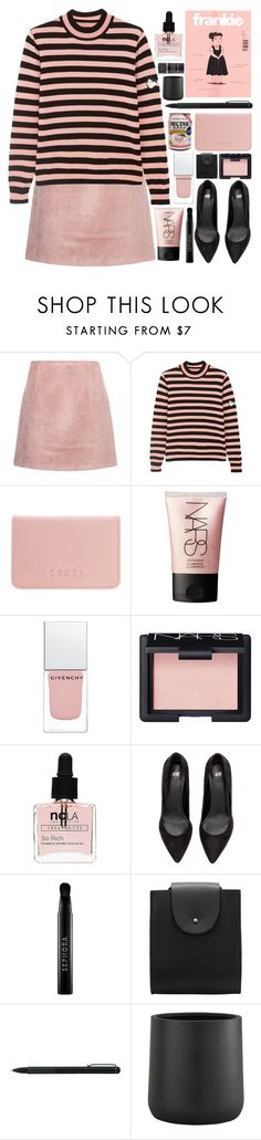"""""""Little Frankie"""" by ladyvalkyrie ❤ liked on Polyvore featuring Acne Studios, Shrimps, Coast, NARS Cosmetics, Givenchy, ncLA, Sephora Collection, IDEA International, Crate and Barrel and Max Factor"""