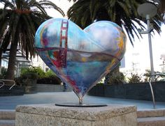 Image detail for -Classic San Francisco Heart sculpture by Jeremy Sutton