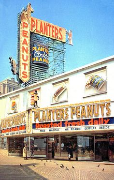 The Peanut Store on the boardwalk at Atlantic City New Jersey ~ I can smell the roasting peanuts right now. You couldn't just keep walking, you had to buy some! New Jersey, Jersey Girl, Planters Peanuts, Just Keep Walking, Nj Shore, Old Signs, Cape May, Atlantic City, Great Memories