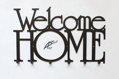 Welcome Home Art-Steel H & M Home, Home Art, Welcome Home Decorations, Key Rack, Fourth Wall, Live Your Life, Wall Decor, Wall Art, Steel