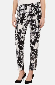 Topshop Floral Print Cigarette Pants available at #Nordstrom