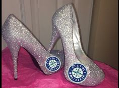 Seattle MARINERS BASEBALL high heel sparkly by CrystalCleatss