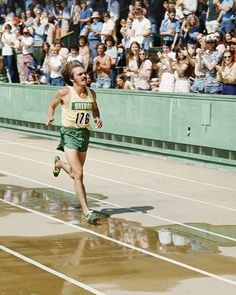 Another victory lap for Pre before his fans at Oregon's Hayward field,