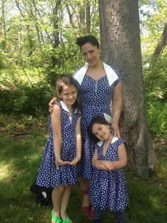 """Melissa Killion Viator posted a photo of herself and her two adorable little ones. """"Celebrating Mother's Day with my beautiful girls. Thank you Trashy Diva for creating such lovely dresses! We love them!"""""""