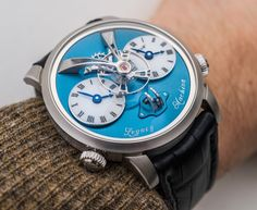 MBandF Legacy Machine 1 Watch In Platinum With Blue Dial Hands-On