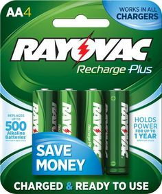 Rechargeable batteries at Menards