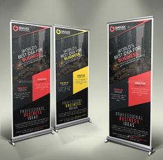 Buy Corporate Roll-Up Banner by GeniusPoint on GraphicRiver. Features: Easy Customizable and Editable Size in with bleed CMYK Color Design in 150 DPI Resolution P. Tradeshow Banner Design, Roll Up Design, Best Business Ideas, Rollup Banner, Design Inspiration, Design Ideas, Brochures, Header, Creative Design
