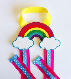 Rainbow Hair Bow Holder and Clip Organizer Bow por leilei1202