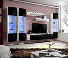 neo wandmontierte wohnwand by h lsta werke h ls. Black Bedroom Furniture Sets. Home Design Ideas