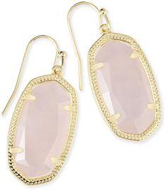 Dani Earrings in Rose Quartz #ad