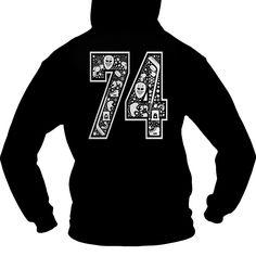 Hockey number 74 back  0916 Check more at http://hockeyteeshirt.com/2016/12/28/hockey-number-74-back-0916/