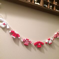 Ravelry: Tiny Christmas Jumper Garland pattern by Flo and Dot