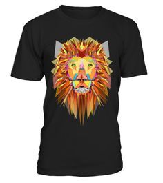 t-shirt Geometric Lion