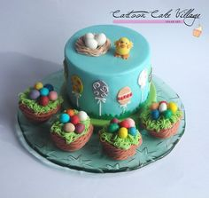 Easter cake with mini cakes