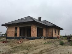 Projekt domu TK133 119,71 m2 - koszt budowy - EXTRADOM Modern Family House, Home Fashion, House Plans, Cabin, House Styles, Home Decor, Yurts, Decoration Home, Room Decor