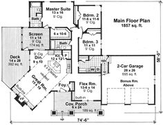 Craftsman House Plan 42621