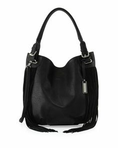 Lust Fringed Hobo Bag, Black by Urban Originals at Neiman Marcus.