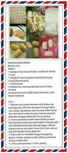 Buat Kerupuk Cake Recipes, Snack Recipes, Cooking Recipes, Sambal Recipe, Snacks Dishes, Asian Snacks, Catering Menu, Indonesian Food, Food Inspiration