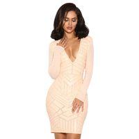 'Arisu'  Nude Vegan Leather and Mesh Dress
