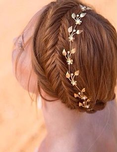 braid, fashion, fishtail, hair, hairdo