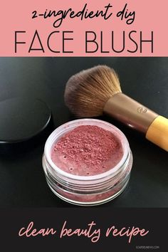 DIY Blush: How to Make a Natural Face Blush Recipe with Just 2-Ingredients. Easy homemade makeup recipe for your natural beauty regimen. This easy DIY beet root powder blush is so simple to make and it smells completely yummy! Simply measure out the clay and beet root powder using a measuring spoon. Mix well to combine and you have a natural green beauty recipe for botanical skin care. Easy homemade cosmetics recipe for natural blush. #diy #makeup #greenbeauty #naturalskincare #cosmetics Farmasi Cosmetics, Homemade Cosmetics, Natural Cosmetics, Clean Beauty, Diy Beauty, Beauty Ideas, Beauty Tips, Natural Blush, Natural Face