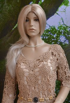 Crocheted dress tunic made to order crochet handmade por dosiak