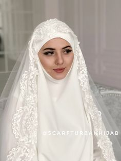 Gorgeous wedding costume for Muslim, islamic bridal khimar, wedding jilbab, nikkah, Hajj clothing Muslimah Wedding Dress, Hijab Style Dress, Disney Wedding Dresses, Pakistani Wedding Dresses, Hijab Chic, Nikkah Dress, Hijab Bride, Niqab, Kaftan
