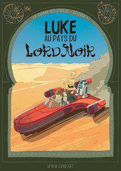 Star Wars au pays de Tintin...