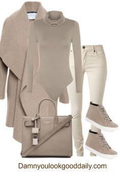 Click the picture for more info. Cute and Casual Teenage Fashion for school for fall and winter autumn style. Turtleneck bodysuit, cream skinny jeans with beige sneakers and a camel waterfall coat.The bag is a saint laurent tote. Tumblr Fashion, Teen Fashion, Fashion Outfits, Fashion Trends, High Fashion, Cute Casual Outfits, Stylish Outfits, Tumblr Mode, Autumn Street Style