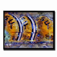 LSU Tigers Game Time Poster designed by TSS artist Robin Curtiss. Officially licensed LSU product.