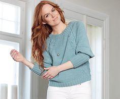 Пуловер с регланными «косами»