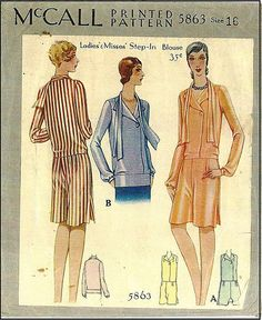 1920s McCall Ladies step in blouse