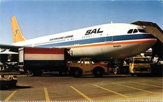 SAA Airbus Springbok at Jan Smuts airport, Johannesburg Johannesburg Skyline, Boeing Planes, Passenger Aircraft, Commercial Aircraft, Airports, Spacecraft, Vintage Advertisements, Jets, Airplanes