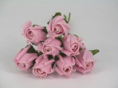 YF72LP  ROSEBUDS IN LIGHT PINK COLOURFAST FOAM 8 X 3 CM Vintage Colors, Vintage Flowers, Vintage Pink, Calla Lily Colors, Foam Roses, Bunch Of Flowers, Rose Buds, Wedding Bouquets, Mixing Colours