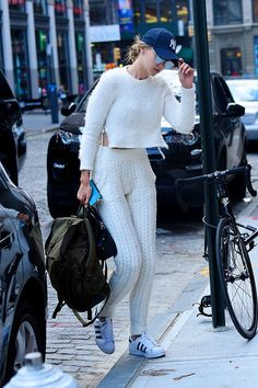 Image result for gigi hadid knitted pants