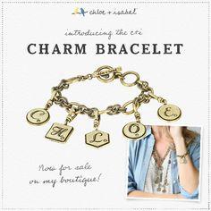 The c+i charm bracelet: now for sale on my boutique! https://www.chloeandisabel.com/boutique/ableuboutique