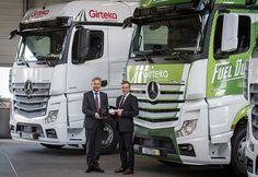 NEW DELHI: deutsche Luxus-Nutzfahrzeug-Hersteller Mercedes Benz erhielt Großauftrag der 1.000 Actros von Europastraße Transportunternehmen Girteka L...
