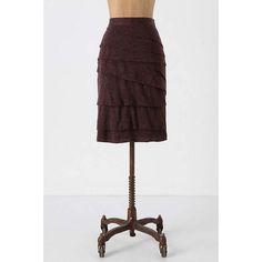 """Anthropologie """"Layered in Slate"""" pencil skirt Very cute layered pencil skirt. Has a great heathered grey look and feel to it. Great condition. Anthropologie Skirts"""