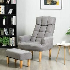 Latitude Run Latitude Run Lazy Sofa Armchair Adjustable Backrest & Headrest Living Room W/ottoman Grey Upholstery Colour: Grey Recliner With Ottoman, Sofa Chair, Armchair, Living Room Sets, Living Room Furniture, Tv Stand Cabinet, Lift Recliners, Chair Price, Reclining Sofa
