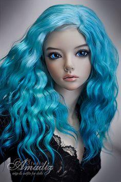 "FOR ORDER: ""Deep sea"" wig | by Amadiz"