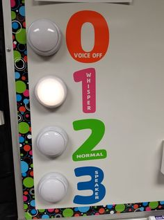 Abby Yerger Using this light sound meter is a good visual way to tell students what their volume level should be at. 3rd Grade Classroom, Classroom Setup, Classroom Design, Music Classroom, Science Classroom, Kindergarten Classroom, School Classroom, Future Classroom, Art Classroom Rules