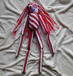 Candy Striped Girl Rag Doll, not a toy £75.00