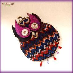 Handmade accessories owl bird bohemian vingage necklace pendant clutch bag
