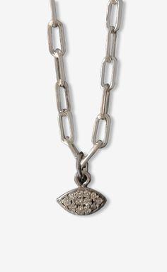 Silver Continent Fine Jewelry Diamond Eye Necklace   VAUNTE
