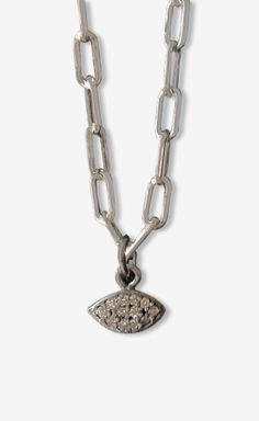 Silver Continent Fine Jewelry Diamond Eye Necklace | VAUNTE
