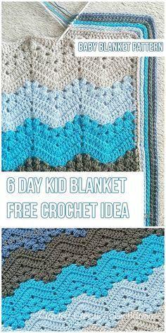 The 6-Day Kid Blanket [Free Crochet Pattern]