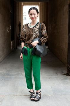 leopard and green = stunning!