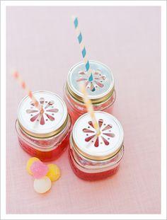 Pastel Flower Cutouts in a Mason Jar
