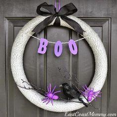 DIY Halloween : DIY Dollar Store Halloween Wreath